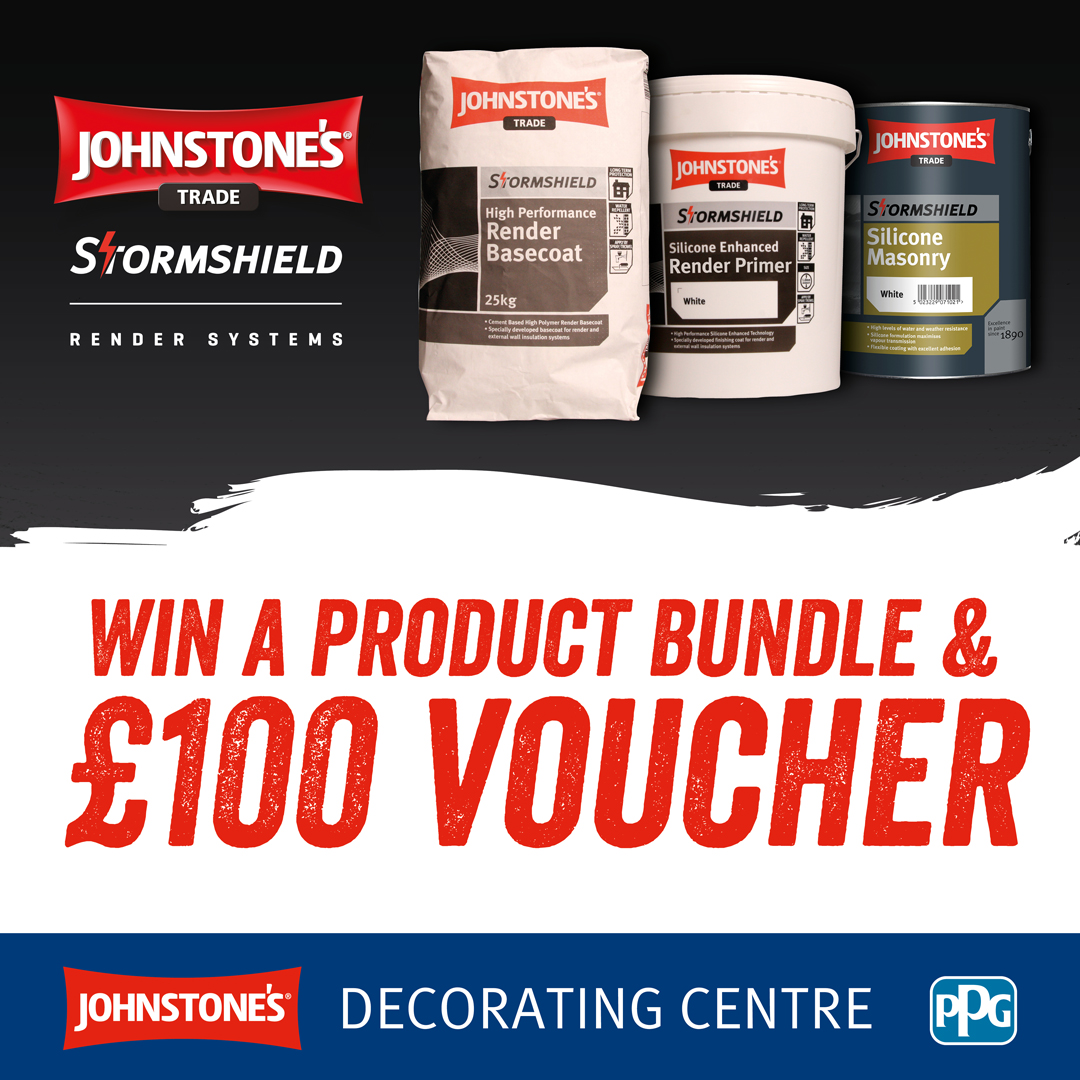 WIN A £100 VOUCHER + RENDERING BUNDLE WITH JOHNSTONE'S