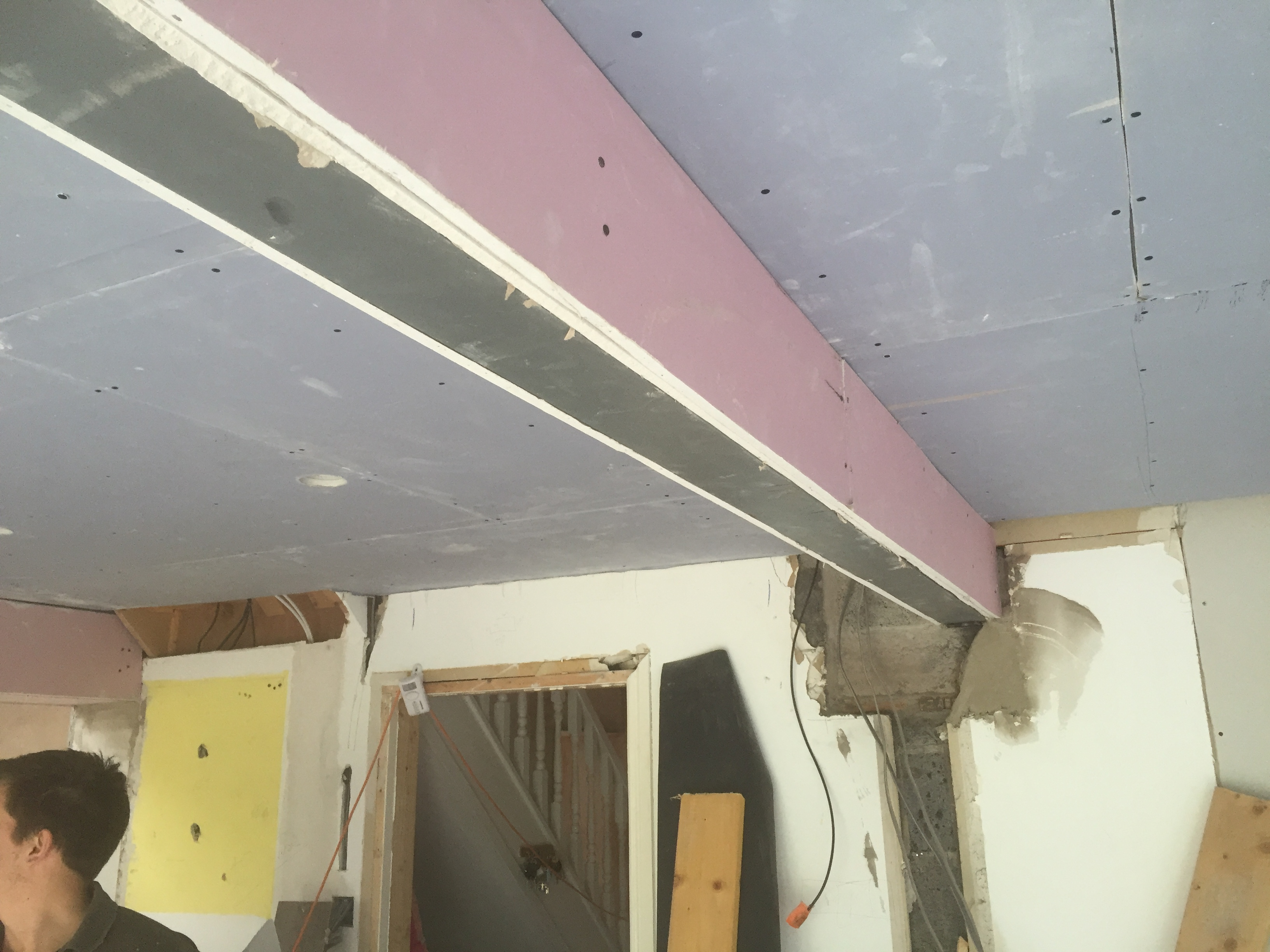 Which Plasterboard And How To Enclose Steel Beams The