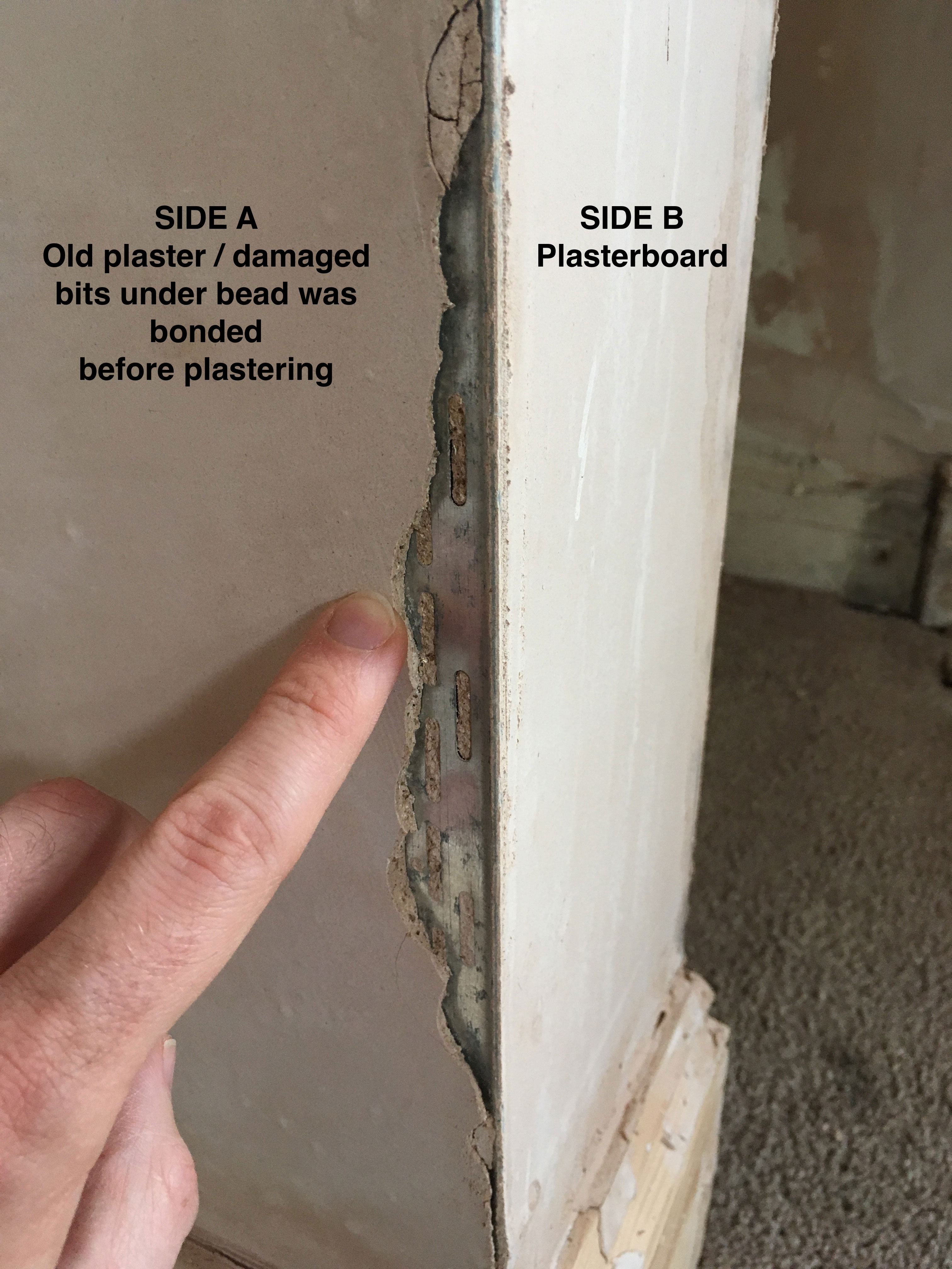Plaster coming away from angle bead? | The Original Plasterers Forum