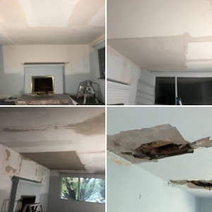 Plaster repair after leak